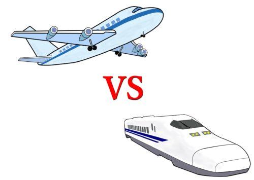 新幹線と飛行機の4時間の壁!料金と所要時間を徹底比較しました